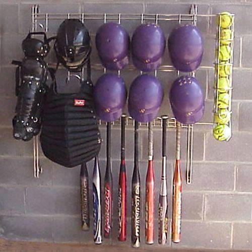 Ball Organizer Garage: Dugout Organizer Rack