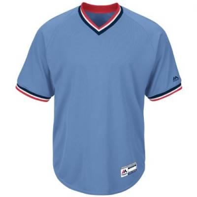 Majestic® Cool Base® Youth Short-Sleeve V-Neck Baseball Jersey Main Image