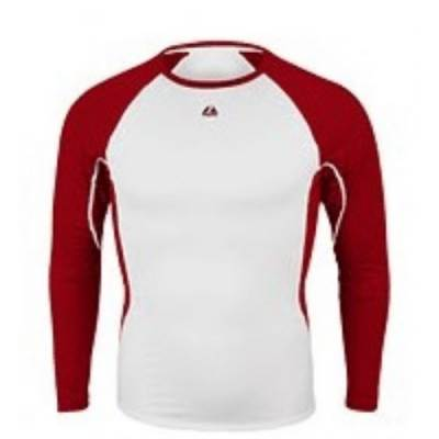 Majestic® Premier Warrior Youth Long-Sleeve Fitted Crew Neck Base Layer Shirt Main Image