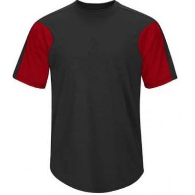 Majestic® Youth Short-Sleeve Crew Neck Color-Blocked Jersey Main Image
