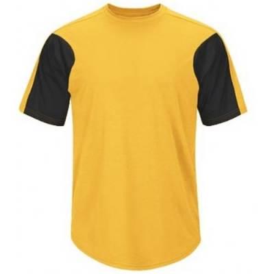 Majestic® Premier Color-Blocked Men's Short-Sleeve Crew Neck Jersey Main Image