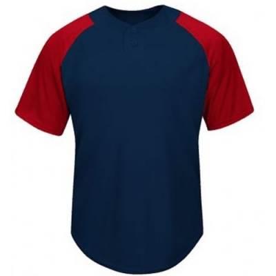Majestic® Cool Base® Adults' Short-Sleeve 2-Button Baseball Jersey Main Image