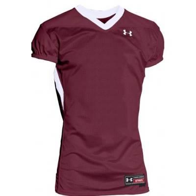 Under Armour® Havoc Stock Adults' Short-Sleeve V-Neck Football Jersey Main Image