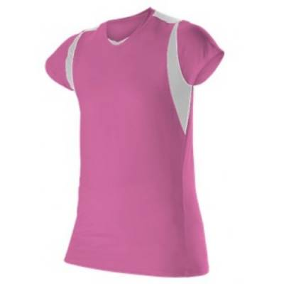 Alleson Girl's Colorblock SS Jersey Main Image