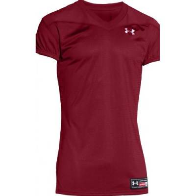 Under Armour® Instinct Stock Adults' Short-Sleeve V-Neck Football Jersey Main Image