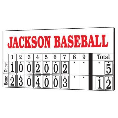 8' x 4' Hanging Numbers Baseball Scoreboard Main Image