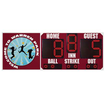BSN 8' x 3' Baseball Scoreboard Main Image
