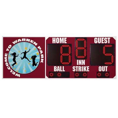 8' x 3' Baseball Scoreboard Main Image