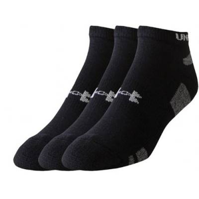Under Armour® HeatGear® Youth No-Show Socks (3-Pack) Main Image