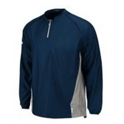 Majestic® Authentic Collection Cool Base® Triple Peak Men's 1/4-Zip Convertible Baseball Pullover Main Image