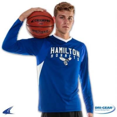 CHAMPRO Sports® Key Shooter's Long-Sleeve Basketball Shirt Main Image