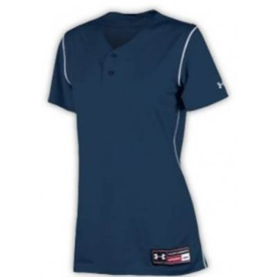 Under Armour® Change-Up Stock Women's Short-Sleeve Henley Softball Jersey Main Image