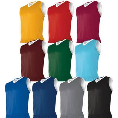 CHAMPRO Sports® Clutch Youth Reversible Sleeveless V-Neck Basketball Jersey Main Image