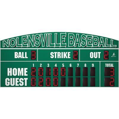 "20' X 6'6"" Baseball Scoreboard Main Image"