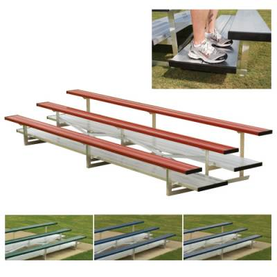 Preferred Powder Coated Bleachers with Chain Link Fencing Main Image