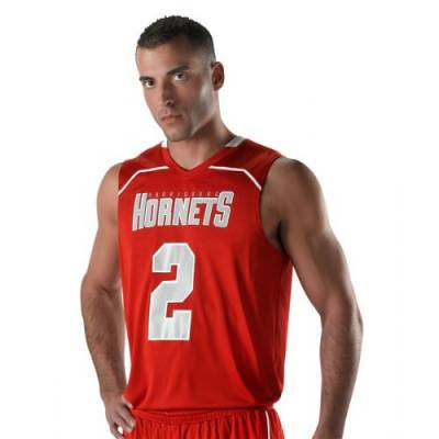 Men's Sleeveless V-Neck Basketball Jersey Main Image