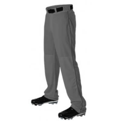 Open Bottom Baseball Pant with Piping Main Image