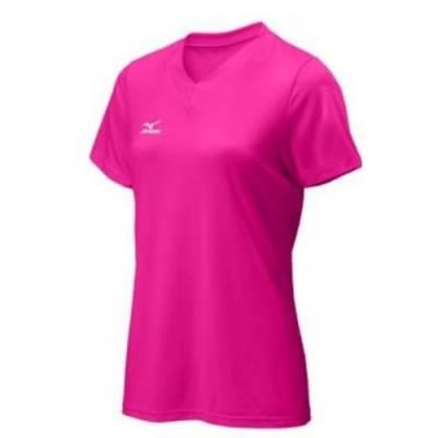Mizuno® Attack Women's Short-Sleeve V-Neck Volleyball T-Shirt Main Image