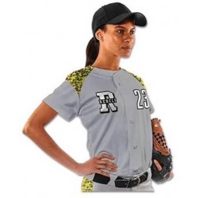 CHAMPRO Sports® Circuit Women's Short-Sleeve Softball Jersey Main Image