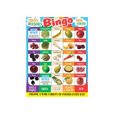 Fruits and Veggies Bingo Main Image