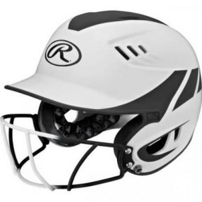 Velo Two Tone Batting Helmet w/ Mask Main Image