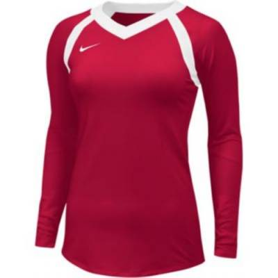 Nike Agility Stock Women's Long-Sleeve V-Neck Volleyball Game Jersey Main Image