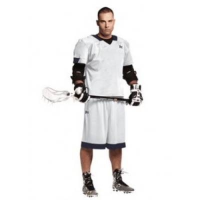 Under Armour® Toli Stock Youth Short-Sleeve V-Neck Lacrosse Jersey Main Image