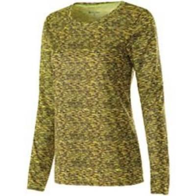 Holloway® Space-Dye Women's Long-Sleeve Shirt Main Image