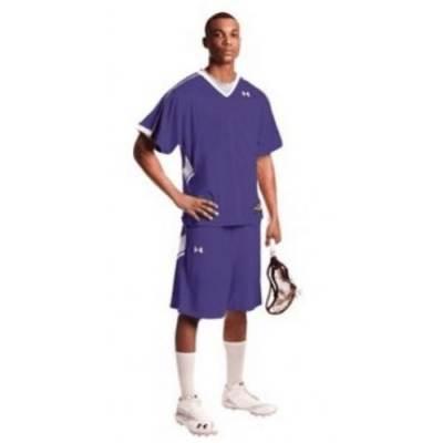 Under Armour® Zagger Stock Youth Short-Sleeve V-Neck Lacrosse Jersey Main Image
