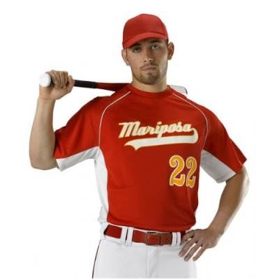 Alleson Athletic Adults' Short-Sleeve Crew Neck Baseball Jersey Main Image