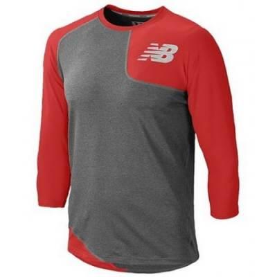 New Balance Men's 3/4-Sleeve Asymmetrical Base Layer Lefty Baseball Shirt Main Image