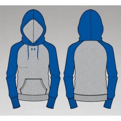 UA Women's Rival Fleece Colorblock Hood Main Image