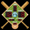 Baseball Diamond-Shaped Scoreboard Package