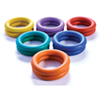 US Games 6.5 in. Rubber Deck Rings (12-Pack)