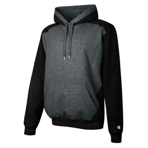 Champion® Double Dry Eco Color-Blocked Fleece Hoodie | BSN SPORTS