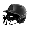 XVT BATTING HELMET W/ MASK BLACK L/X