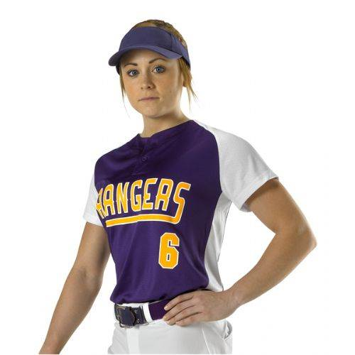 Two Button Fastpitch Jersey Bsn Sports