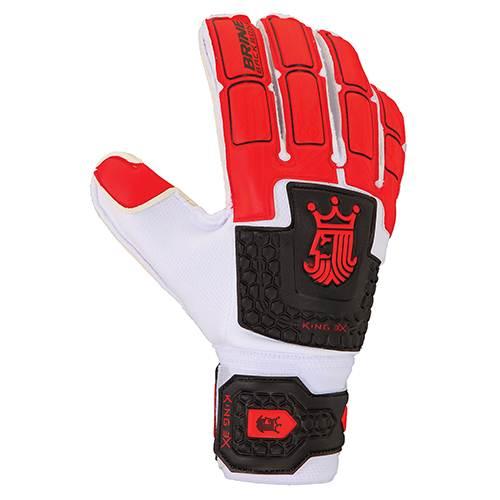 Brine King Match 3X Goalie Glove-Red Bk Wh Main Image a4ea551de