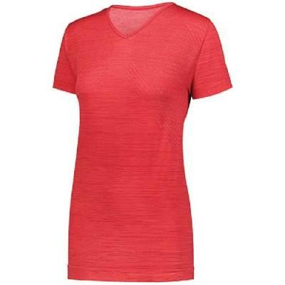 Holloway Ladies' Striated Short Sleeve Shirt Main Image