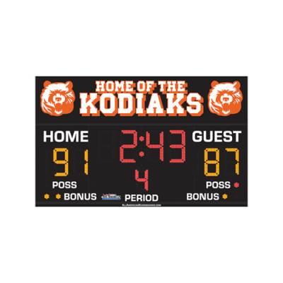 Basketball Scoreboard 3' x 8' Main Image