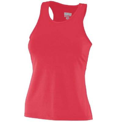 Augusta Girl's Poly/Spandex Solid Racerback Tank Main Image