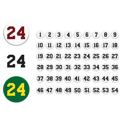Punch Out Number Set Main Image