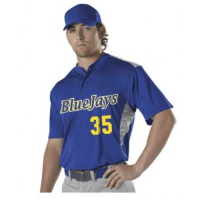 Alleson Youth Two Button Baseball Jersey Main Image