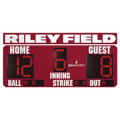 BSN 8' x 4' Baseball Scoreboard w/Panel Main Image