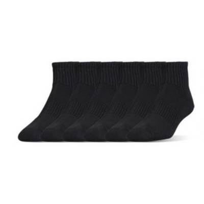 UA 6-Pack Charged Cotton 2.0 Quarter Socks Main Image