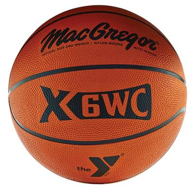 Rubber Basketball with YMCA Logo Main Image