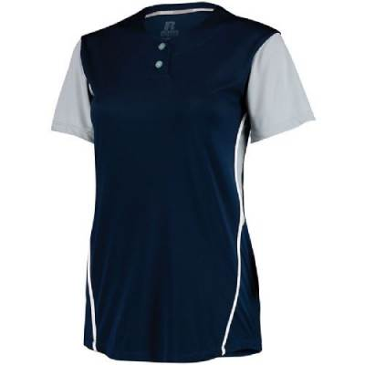 Russell Athletic Ladies' 2 Button Colorblock Jersey Main Image