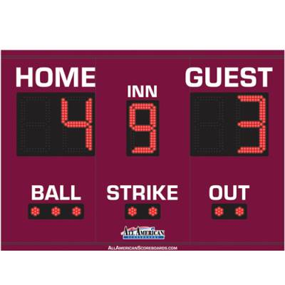 Baseball Scoreboard 4 x 6 Main Image