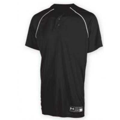 Under Armour® Backstop Stock Youth Short-Sleeve Henley Baseball Jersey Main Image