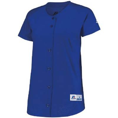 Russell Athletic Ladies' Stretch Faux Button Front Jersey Main Image